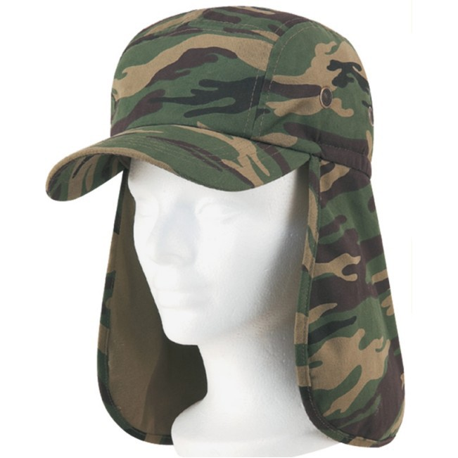 (23404) EAR FLAP CAMO COTTON TWILL