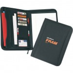 (1073) POLY ZIPPER PADFOLIO