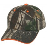 (29103) LOW CROWN CONSTRUCTED 6 PANEL CAMO TWILL CAP W/SANDWICH BILL