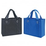 (BS118)NON-WOVEN TOTE BAG W/FABRIC COVERED BOTTOM