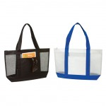 (BS216) MESH TOTE BAG W/ ZIPPER
