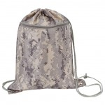 (DM151) DIGITAL CAMO DRAWSTRING TOTE BAG W/ ZIPPER