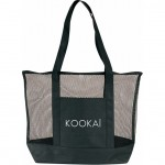 (BS159) DELUXE ZIPPER MESH TOTE BAG