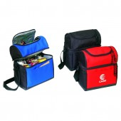 (4034) COOLER LUNCH BAG W/LEATHER-LIKE BOTTOM