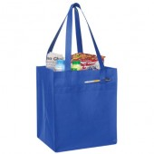 (BS228) NON-WOVEN TOTE W/ FABRIC COVERED BOTTOM