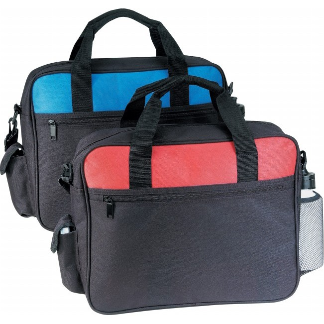 (5081) DELUXE BUSINESS PORTFOLIO W/CELL PHONE POCKET & BOTTLE HOLDER