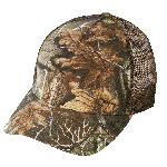 (27201) LOW CROWN (CONSTRUCTED) 5 PANEL SUPERFLAUGE CAMO TWILL MESH CAP
