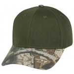 (29208) LOW CROWN CONSTRUCTED COTTON TWILL CAP W/ OAK CAMO BILL
