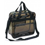 (5079-TB) TRANSPARENT BLACK MESSENGER BAG