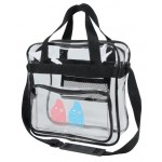 (5079) CLEAR MESSENGER BAG