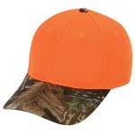 (76304) Flame Orange Cap W/Superflauge Game Camo Bill