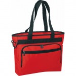 (BS155) POLY ZIPPER TOTE W/BRIEFCASE