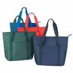 (BS163) POLY ZIPPER TOTE BAG