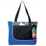 (BS224) POLY ZIPPERED TOTE BAG
