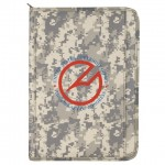 (DM1073) DIGITAL CAMO POLY ZIPPERED PADFOLIO