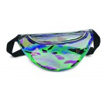 (HP1106) CLEAR HOLOGRAPHIC FANNY PACK