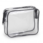 (HP1110) CLEAR VINYL TRAVEL SIZE COSMETIC BAG