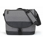 (HP5503) HEATHERED MESSENGER COMPUTER  BAG